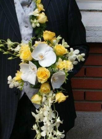 Bouquet avec traîne