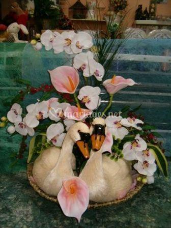 Création florale rose pâle