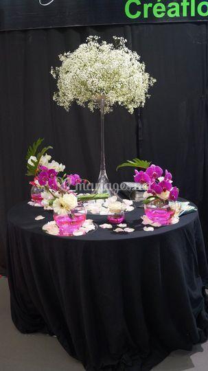 Décor de table gypso orchidée