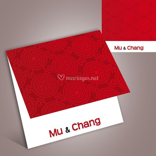 Faire-part mariage chinois
