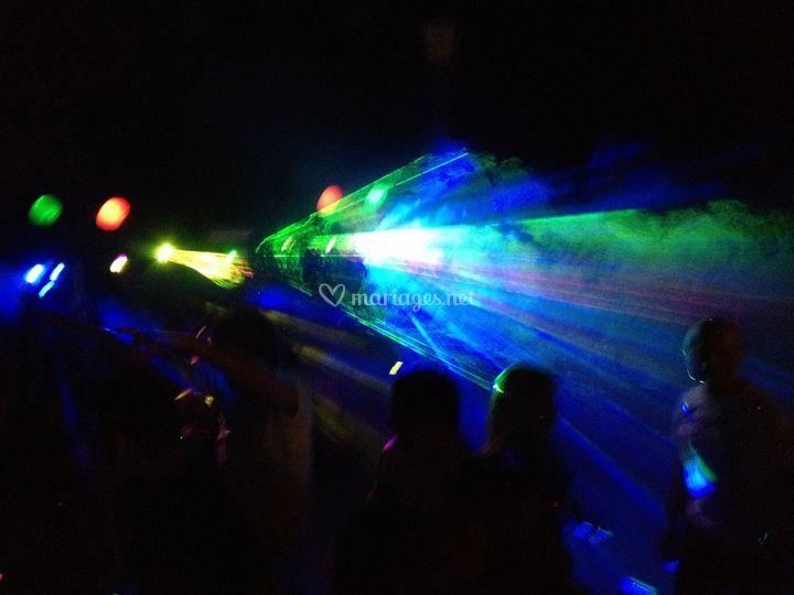 Animation ambiance laser