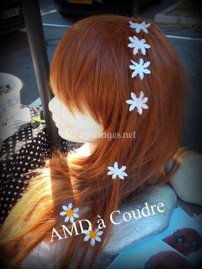 Bijoux de cheveux petite fleur