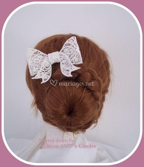 Noeud dentelle coiffure mariée