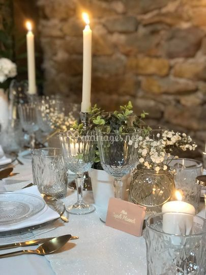 Table mariage champêtre chic