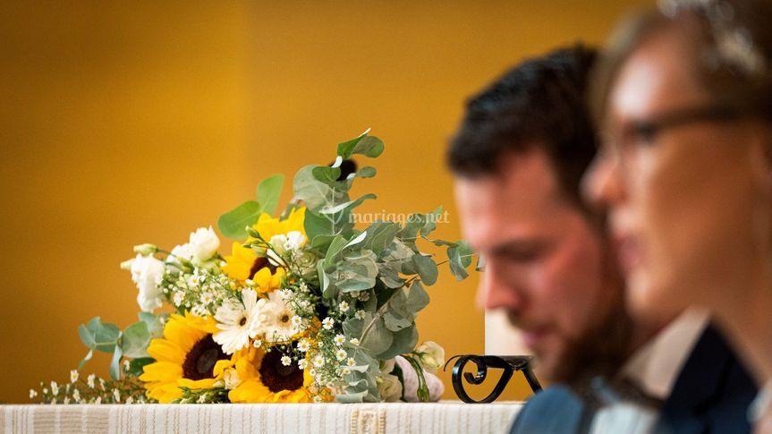 Bouquet en attente de mariée