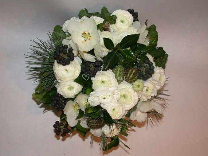 Création fleurs blanches