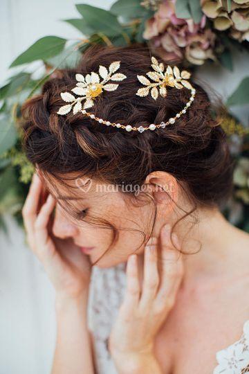 Peigne de mariée ro   mantique