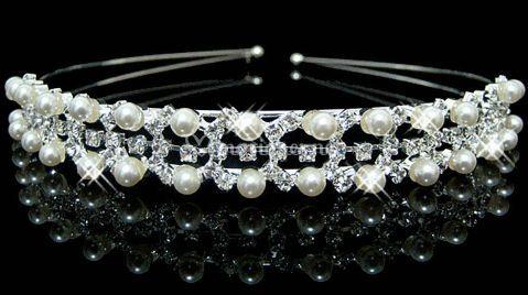 Diadème strass et perle