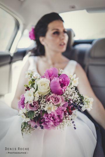 Bouquet de mariée rustic chic