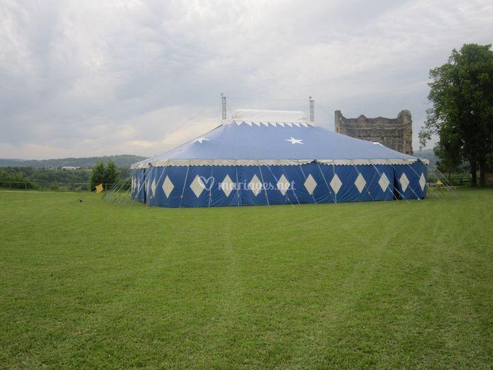 Chapiteau type cirque