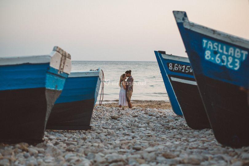Séance engagement à la mer