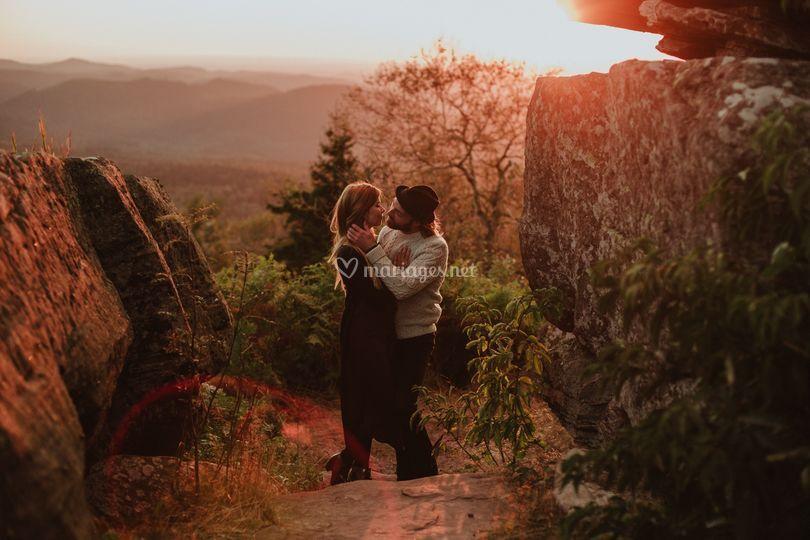 Séance engagement en montagne