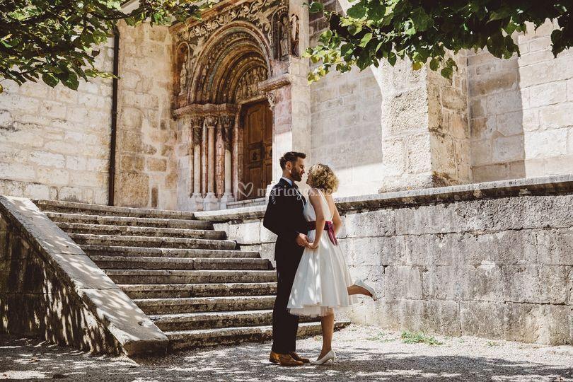 Couple à l'Eglise