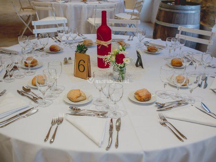 Mariage J&L - Déco table