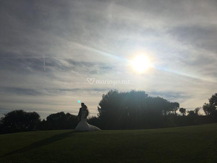 Photos de couple sur le golf