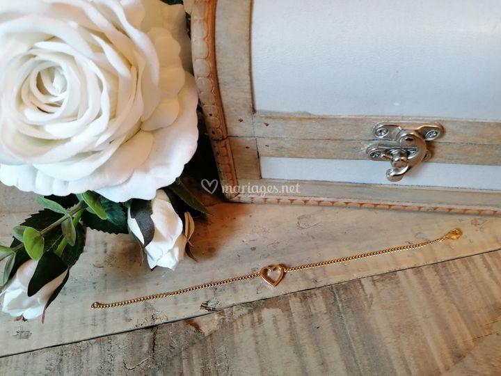 Bracelet doré cœur