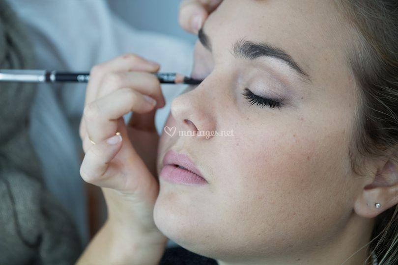 Maquillage mariée nude