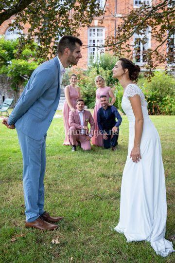 Marié et témoins