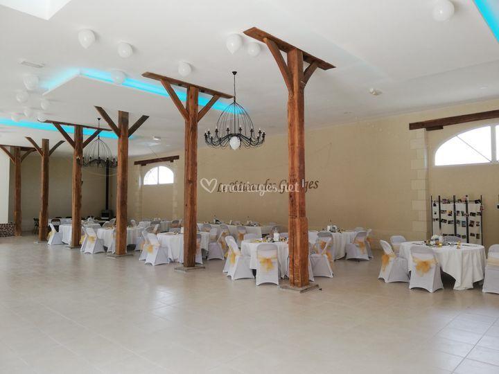 Salle festive nouveau plafond