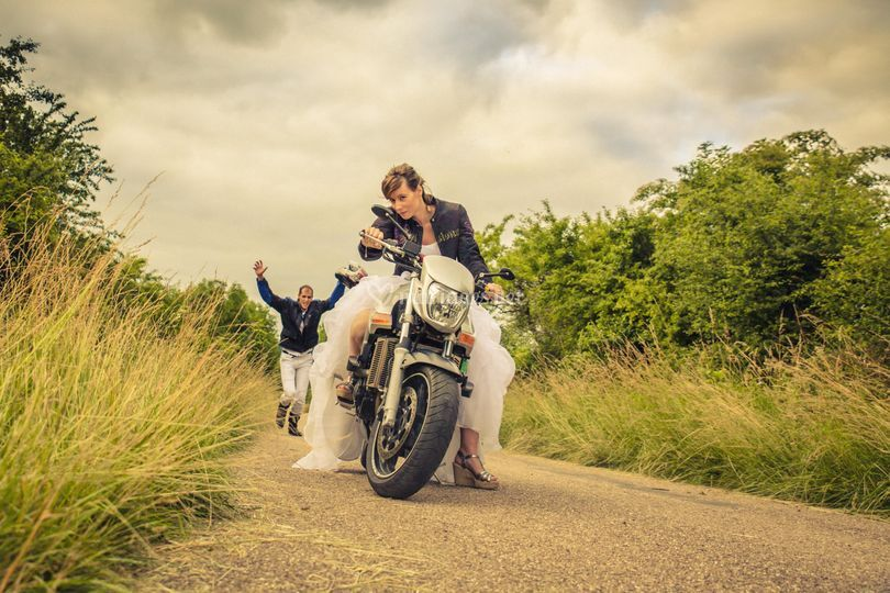 Mise en scène moto