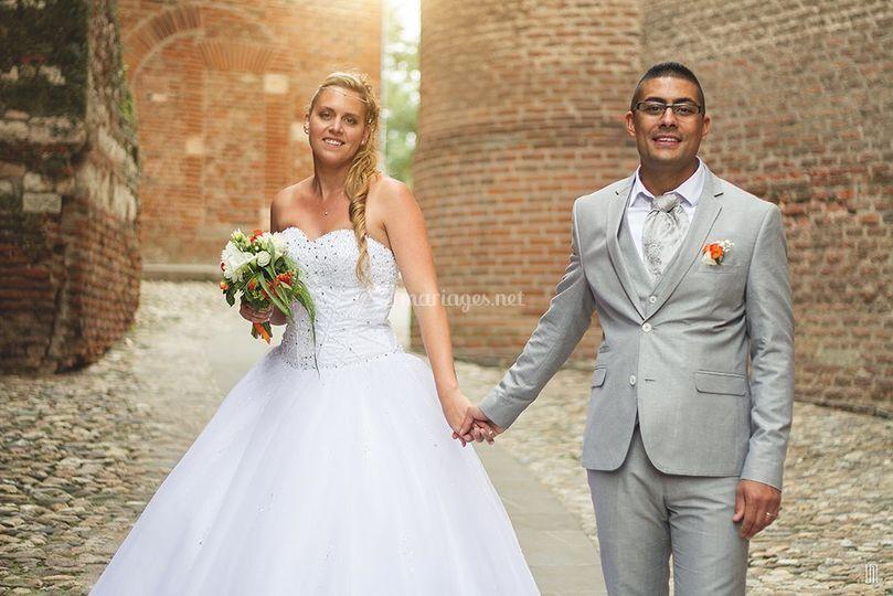 Les mariés à la Cathédrale d'A