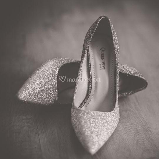 Escarpins de la mariée