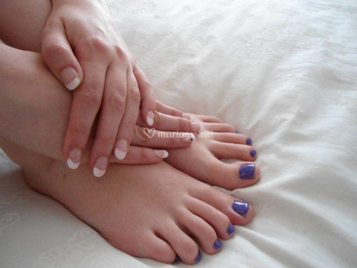 pieds et mains en harmonie