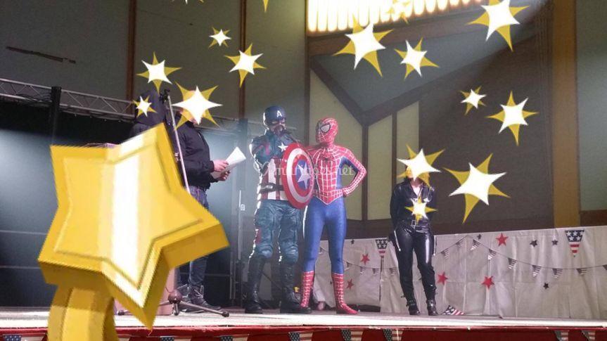 Captain America et spiderman