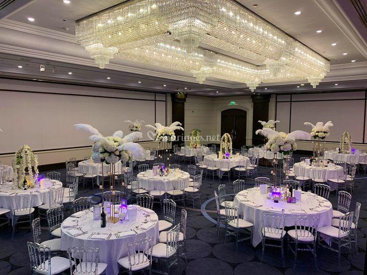 Mise en place Banquet Mariage