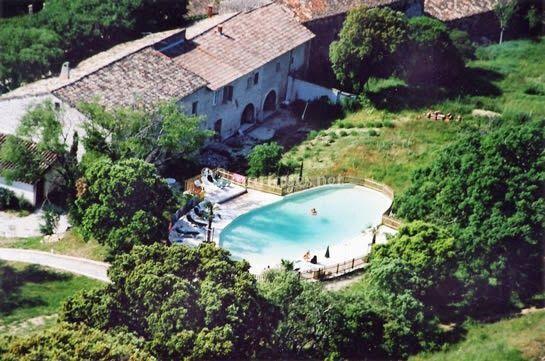 Vue aérienne piscine