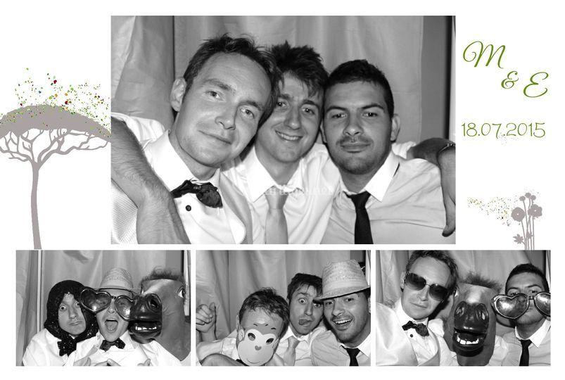 Photo noir blanc mariage