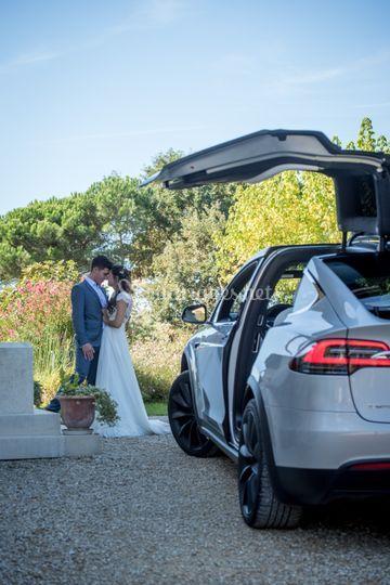Tesla Model X pour mariage