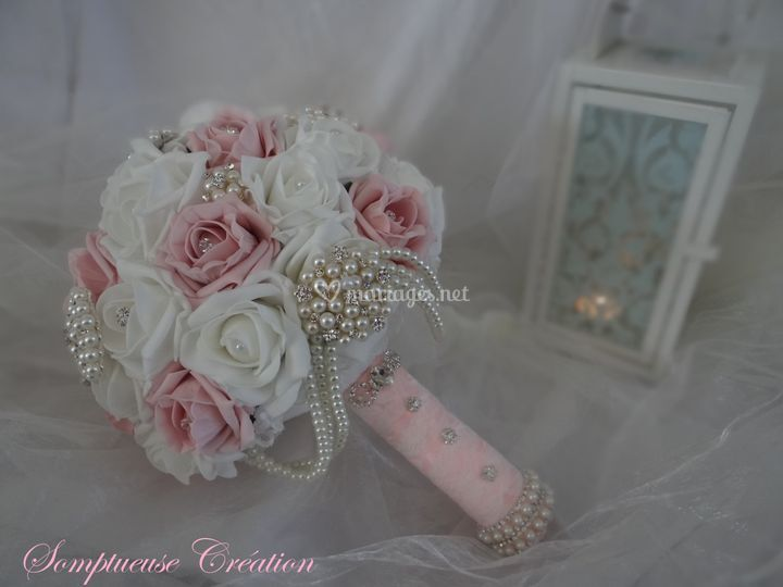 Bouquet shabby chic rose pale