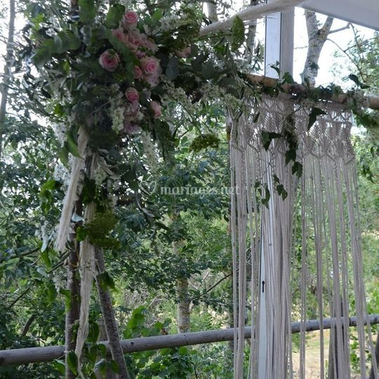 Arche fleurs&macramé