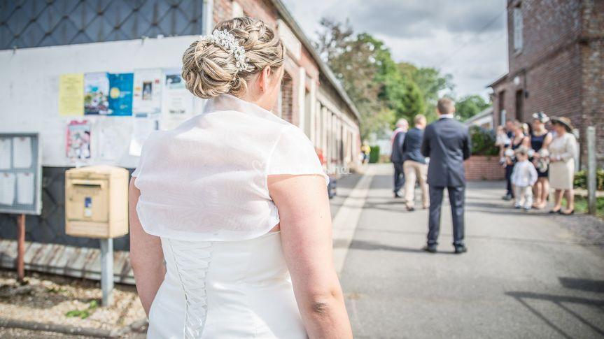 La rencontre des mariés