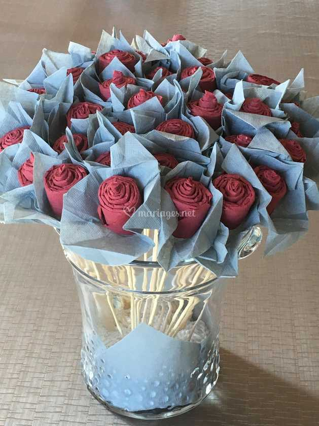 Pliage Serviette Bouquet Roses De La Boutik Dangelik