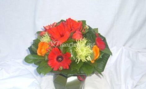 Petit bouquet rond couleurs d'automne