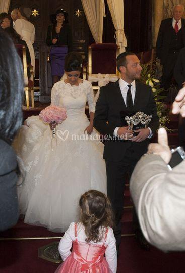 L'entrée de mariés