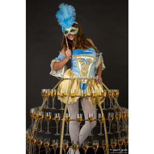 Robe Marquise Bleu