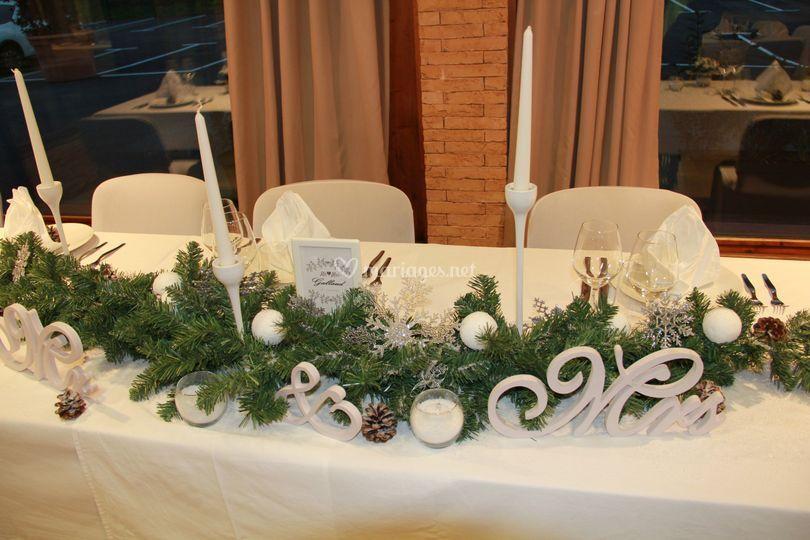 Table de mariés.