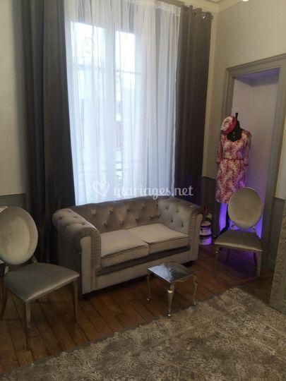 Un des salons privé