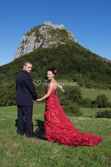 Au pied du chateau de Montségur
