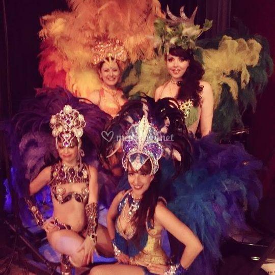 Brésil, plumes, costumes