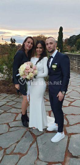 Une photo avec mes mariés