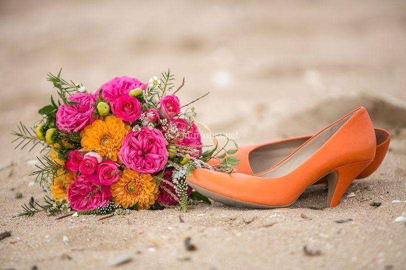 Mariage les pieds dans le sable