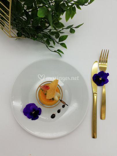 Royal foie gras mangue