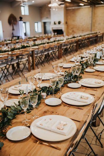 Banquet dans la salle