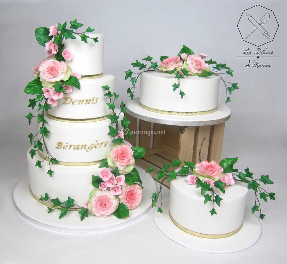 Wedding Cakes Champetre De Les Delices De Marion Photo 3