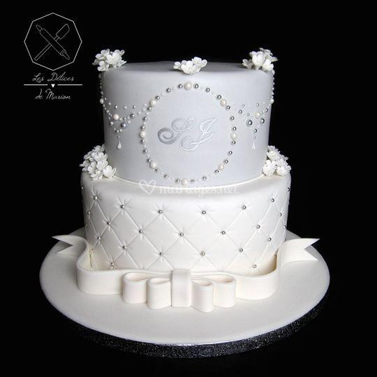 "Wedding cake ""Perles & Fleurs"""