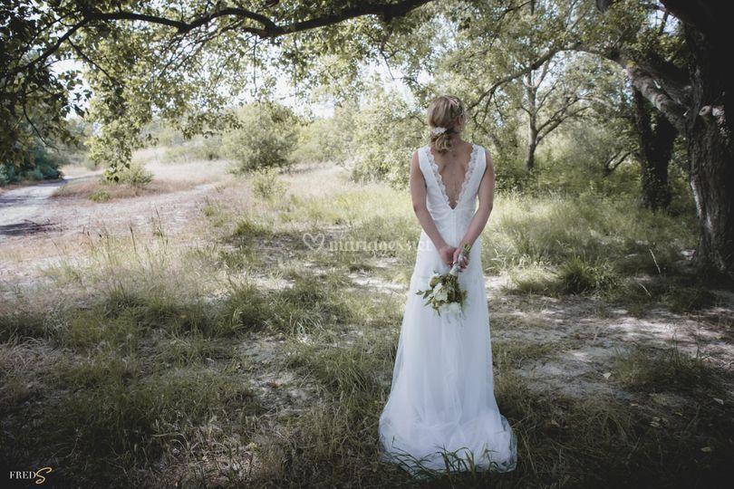 "Robe ""chloé"" mariée en tulle"